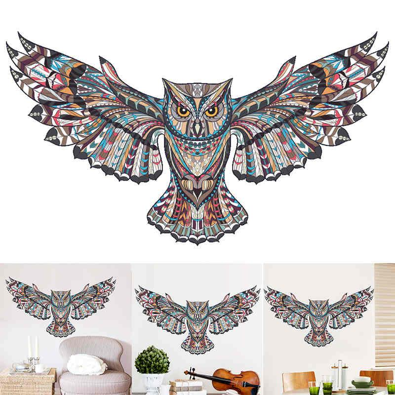removable animal owl wings wall sticker bird flying vinyl decal