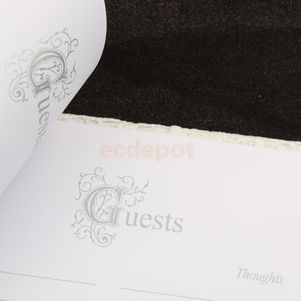Decoração de festa de casamento de flor de capa de renda branca assinando assinaturas de festa de recepção de livro de hóspedes