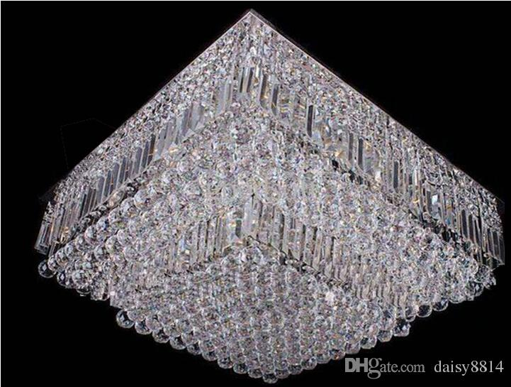 High Quality Square Design Modern Crystal Chandelier Living Room Lights Ac110v 220v Luxury Home Decorative Lighting Antler Cheap