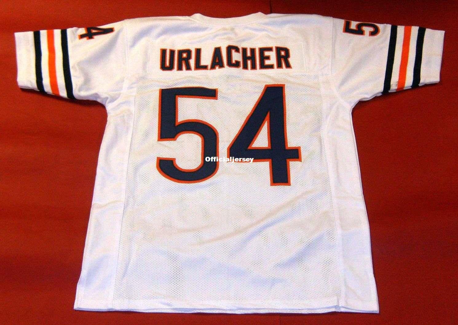 sale retailer 83662 349e9 Cheap retro #54 BRIAN URLACHER CUSTOM MITCHELL & NESS Jersey white Mens  Stitching Retro Size S-5XL Football Jerseys Running