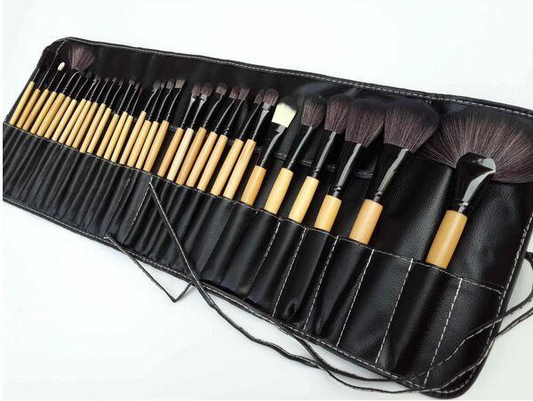 32 шт. набор комплект профессиональный макияж кисти набор косметический макияж кисти синтетические волосы розовый черный чехол бесплатно DHL