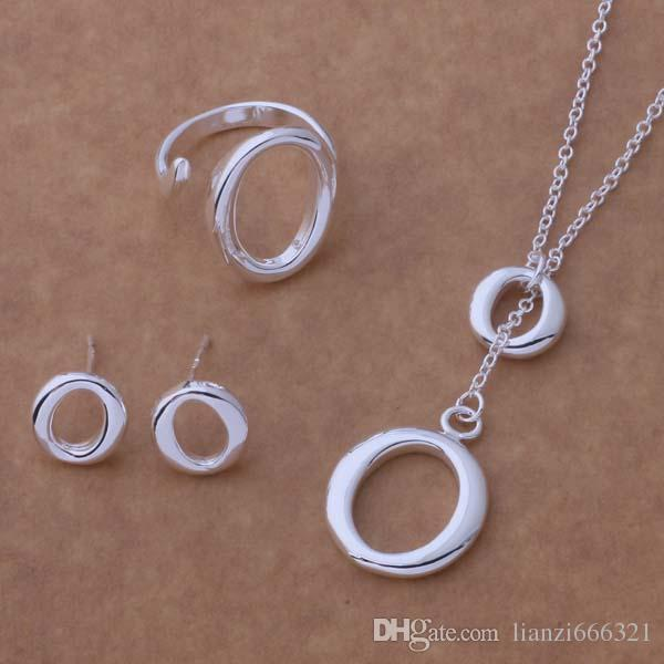 with tracking number New Fashion women's charming jewelry 925 silver 12 mix jewelry set 1454