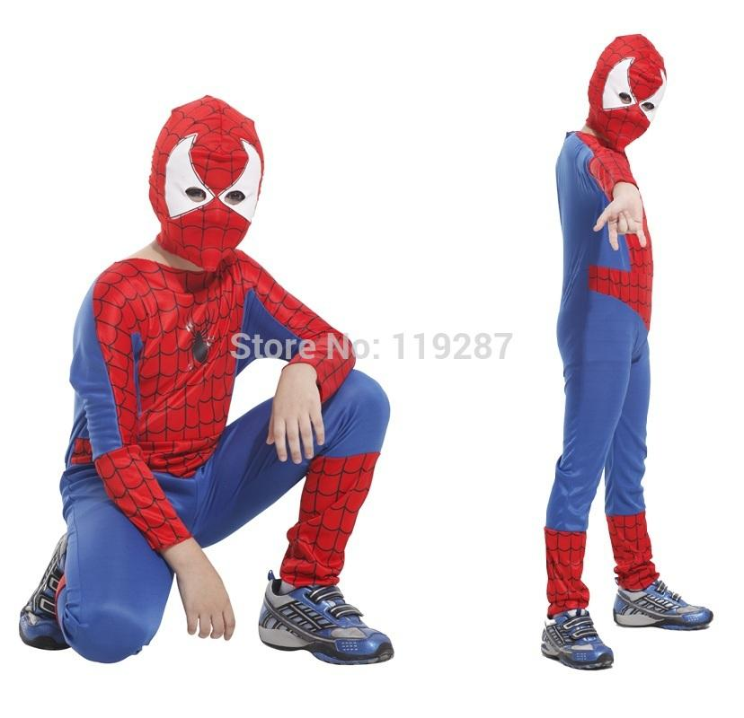 children spiderman costumes boys kids halloween party superman cosplay costume spiderman tight muscle jumpsuit for kid carnival costume halloween costume