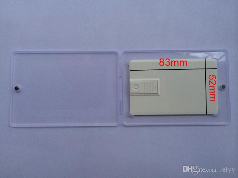 10 조각 더 슬림 자석 PP 카드 U 디스크 포장 투명 선물 상자 U 디스크 카드 상자 크기 105x73x6MM 내부 크기 83x52mm 85x54mm
