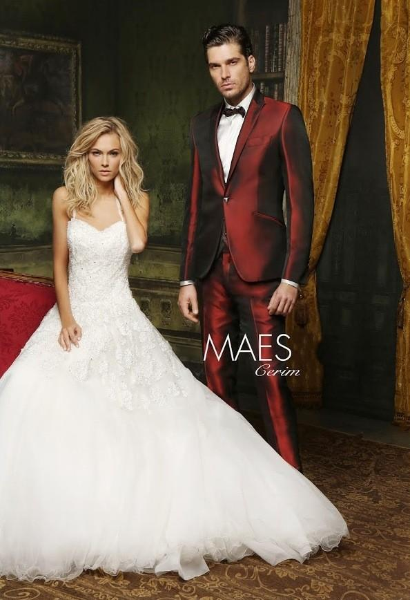 Handsome Burgundy Suit Mens Wedding Suits 2015 Peaked Lapel Mens Wedding Tuxedos One Button