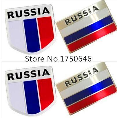 3D Aluminum Russia Flag car sticker accessories stickers For Suzuki grand vitara Suzuki sx4 Suzuki swift jimny car emblem