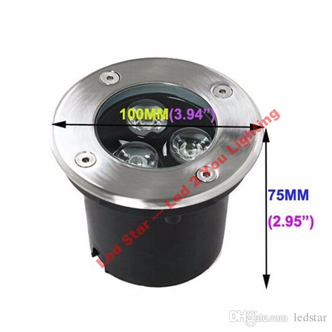 9 Вт RGB светодиодные подземный свет 12 В 3*3W светодиодные открытый Ingroud лампы 600lm водонепроницаемый IP67 гарантированность 3 лет
