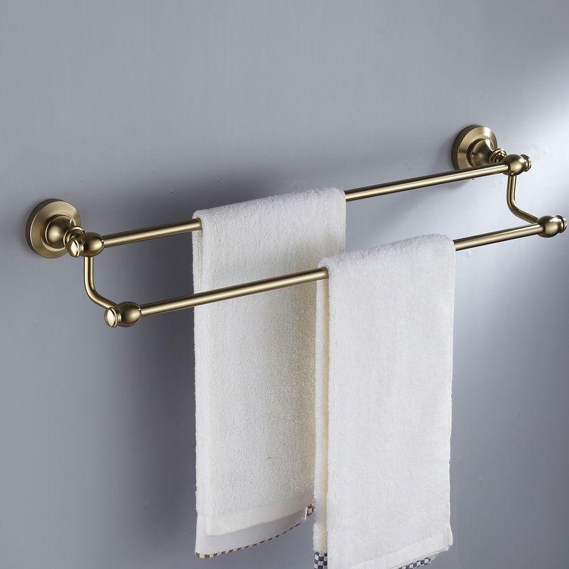 Fashion Antique Space Aluminum Towel Rack Double Towel Bar