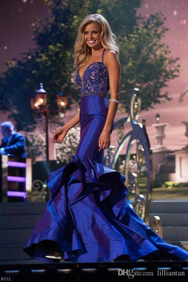 Abendkleider 2016 Black Miss World Pageant Jurken Kristallen Beading Fishtail Mermaid Avondjurken Moderne Prom Jurken Rode Tapijt Vestidos D007