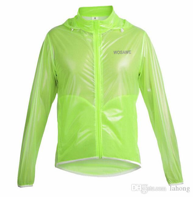Wholesale-New Top Men Outdoor Sportswear Thin&Lightweight Windproof Waterproof Running Hiking Bike Bicycle Cycling Jacket Jersey Rain