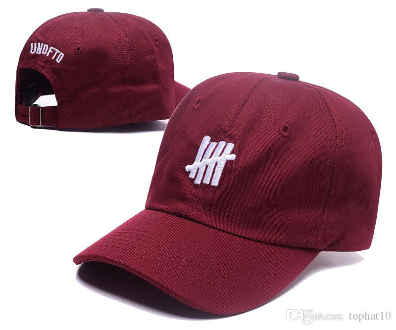 Yeni Tasarım Beyzbol Şapkası 4 renk UNDFTD Snapbacks şapka Moda ERKEKLER HIP HOP Şapkalar Kadın beyzbol şapkaları SıCAK 6 panel kemik gorras swag