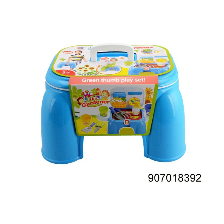 kids toy multifunction table chair plastic storage box garden tool for kids mini chair game folding chair