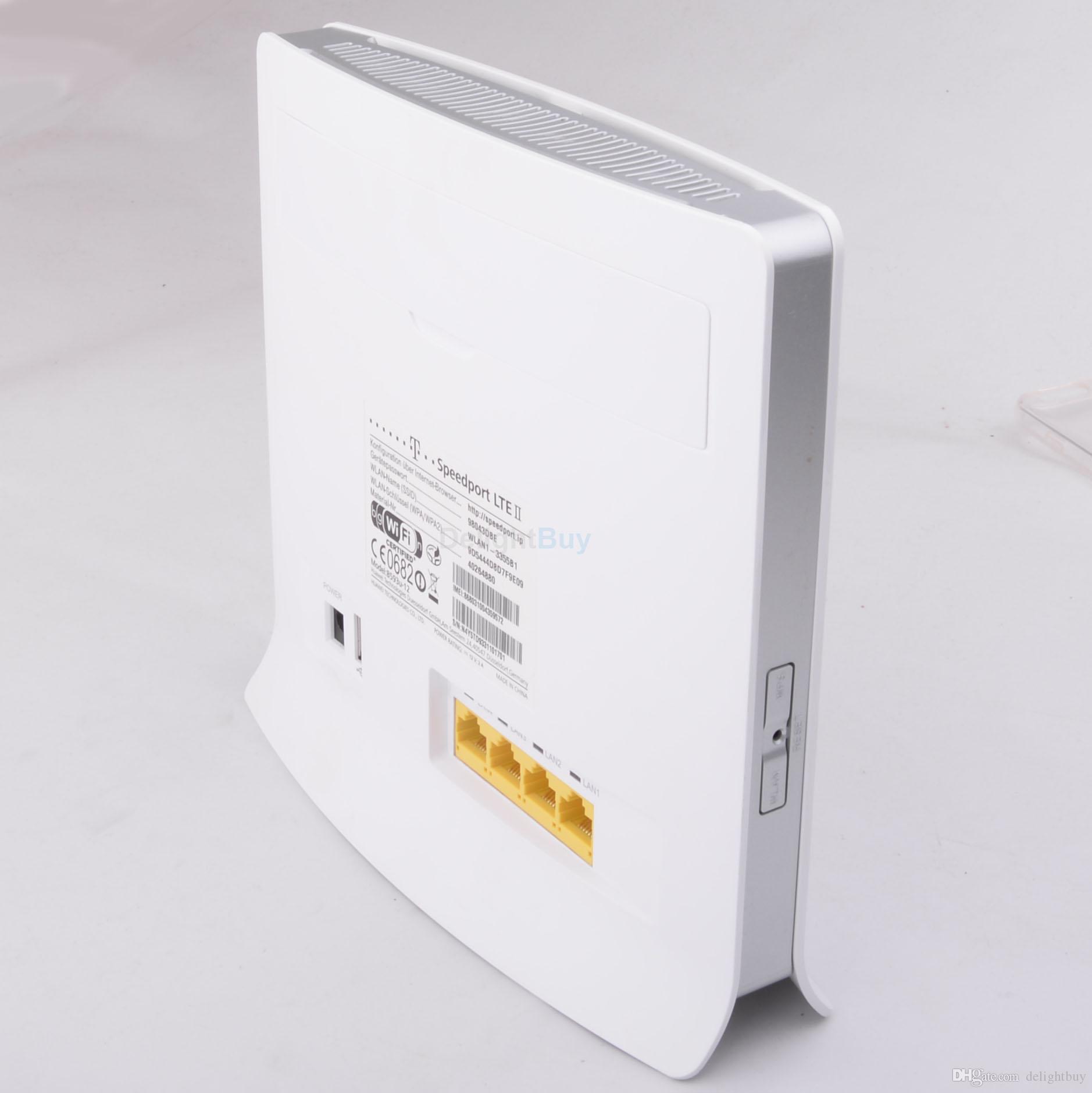 Desbloqueado Huawei B593 4G LTE TDD / FDD 4G Roteador Sem Fio 100Mbps WiFi Hotspot SIM Slot B593U-12