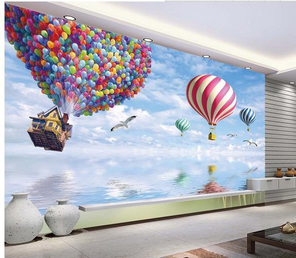 New Large Wallpaper Hot Air Balloon Mural Wallpaper Mural Wall