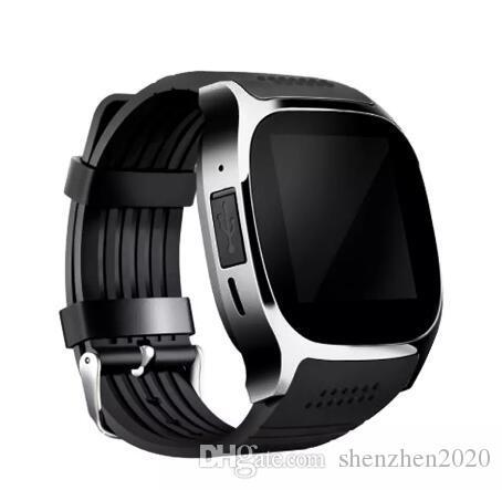 Para Android Nuevo T8 Bluetooth Smart Podómetro Relojes Soporte SIM Tarjeta TF con cámara Sincronización de llamadas Mensaje Hombres Mujeres Reloj Smartwatch