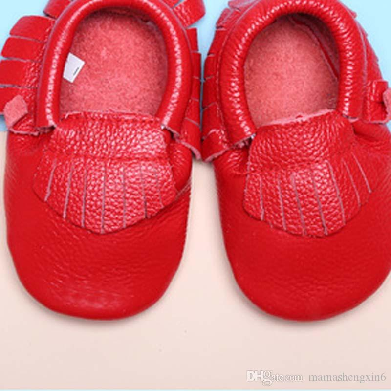 Baby First Walkers Shoes Genuine Leather Baby Moccasins Soft Sole Spring Autumn Toddler Children Lovey shoes