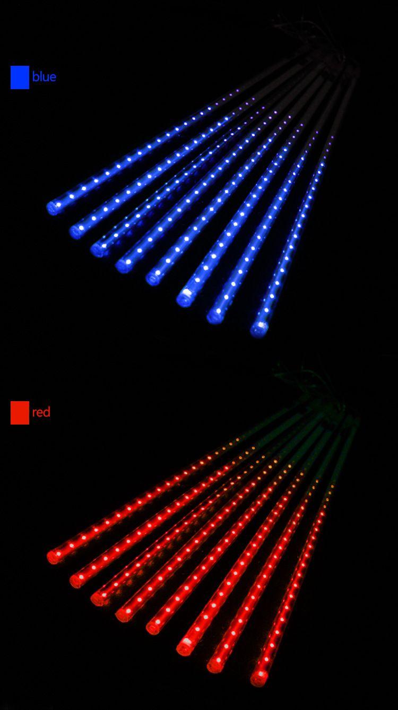 Météor Douche Pluie LED Tubes De Lumière Lumières En Plein Air De Noël Éclairage 50CM Tube 8cps LED Imperméable À L'eau Parti Fée De Noël Led Lumière