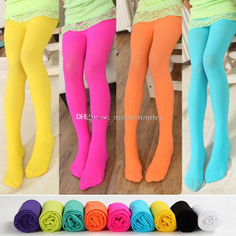 Children Leggings Tights Skinny Pants Child Clothing Fashion Candy Color Leggings Long Trousers Kids Casual Pants Girls Tights B001