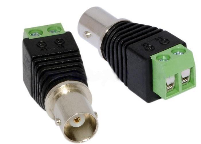 CAT5 To Camera CCTV Video Balun BNC female jack AV Screw Terminal Connector