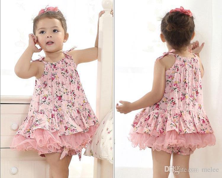 baby girl kids vintage flower tutu dress floral tutu dress pettiskirt tulle skirt lace dress tube dress ballet dress princess pink