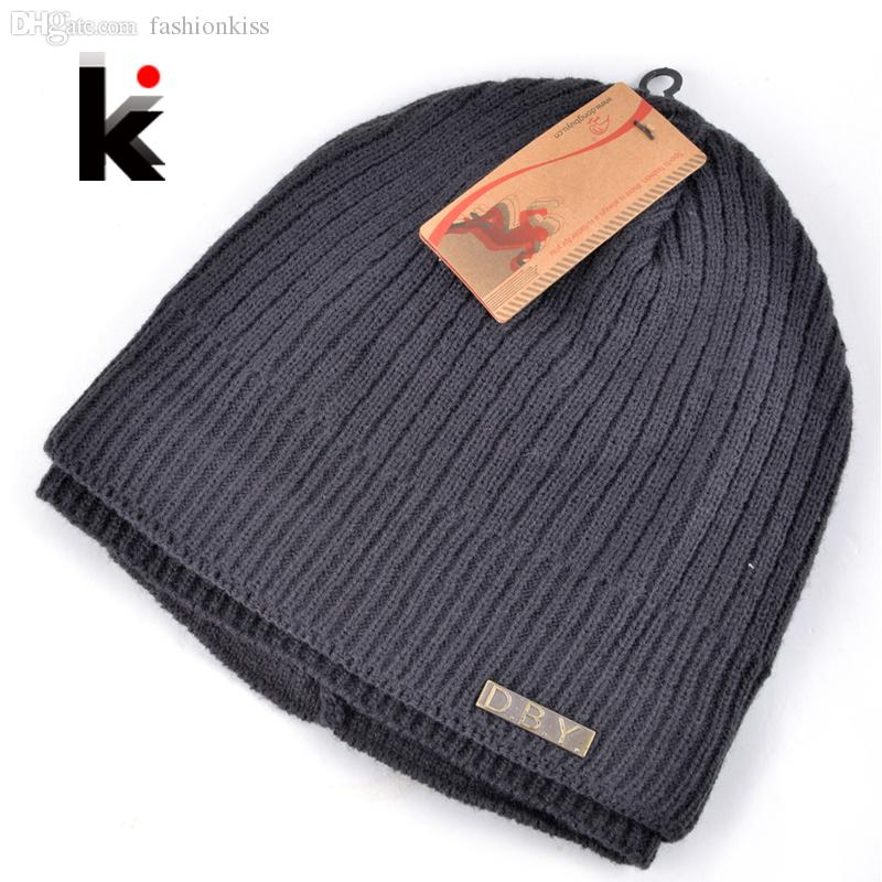 c432bef2309 Wholesale 2015 Skullies Winter Balaclava Mens Designer Hat Ski Mask Knitted Wool  Cap Men Beanie Plus Thick Velvet Hats For Men Turban Knit Cap Slouch Beanie  ...