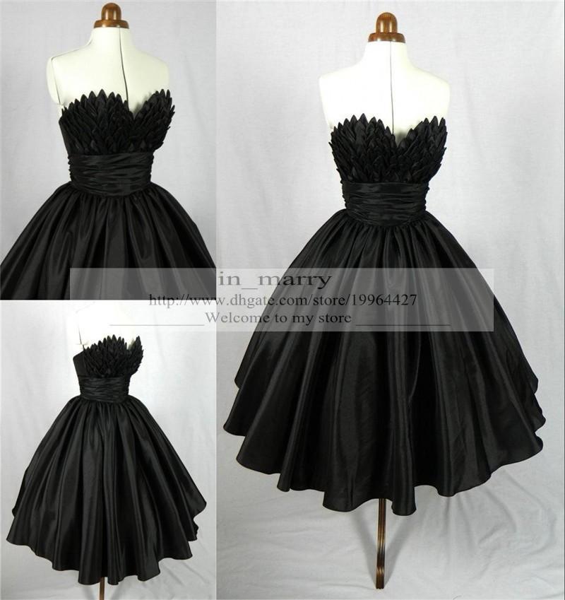 Großhandel Vintage 1950\'s Style Short Prom Kleider Tee Länge Gothic ...