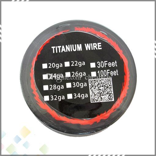 새로운 티타늄 와이어 저항 30 피트 AWG 24g 26g 28g 온도 조절 모드 용 30g 코일 RDA RBA 분무기 DHL 무료
