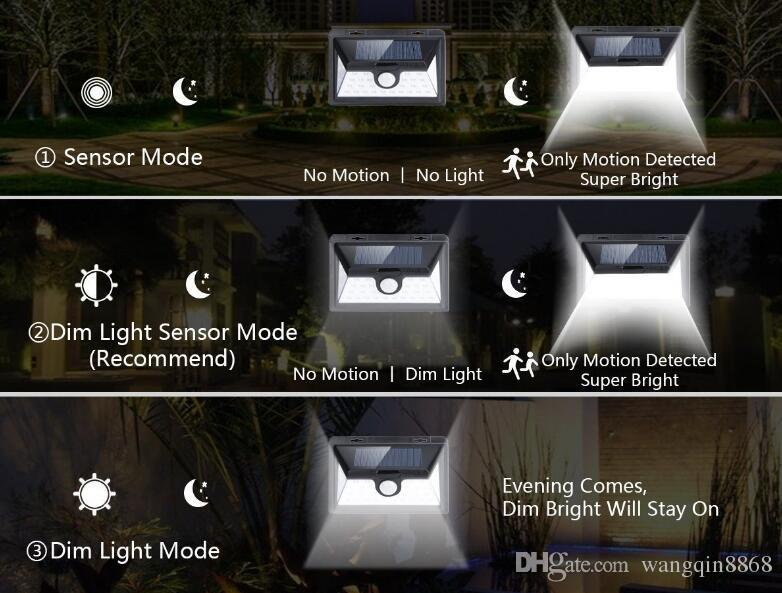 SOLAR LIGHTS OUTDOOR 34 LEDs, Super Bright Motion Sensor Lights with Wide Angle Illumination, Wireless Waterproof Security Lights for Wall,