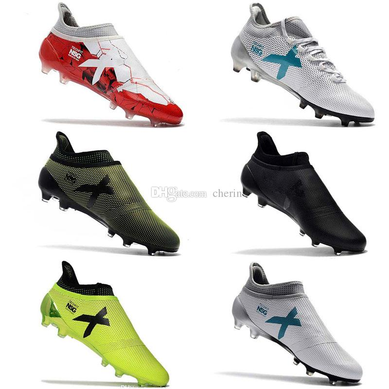 15fa9019a 2019 2018 Mens Soccer Shoes X 17 Purechaos FG Original High Ankle Soccer  Cleats Ace 17 Purecontrol Football Boots Purespeed Confed Cup Cheap Hot  From Cherin ...