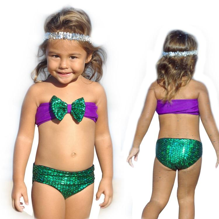 5ecc7fe4363 PrettyBaby Girls Swimwear New 2016 Mermaid Children Tankini Swimsuit ...