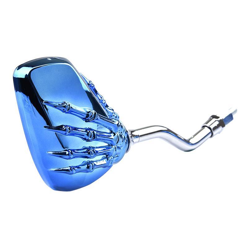 العالمي 10 ملليمتر الجانب مرآة الرؤية الخلفية كروم المعادن جمجمة الهيكل العظمي مخلب إصبع دراجة نارية الجانب الخلفي مرآة الرؤية البراغي الموضوع