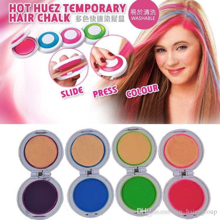 4 Hair Colors Hair Coloring Women\'S Set Hair Chalk Temporary Hair ...