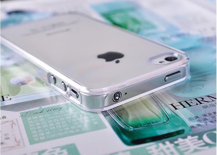Transparente PC rígido Limpar Back Case de proteção Designer Luxo Celular Shell Capa para 6s 6plus 5 5s SE 5c Samsung S7 S6 izeso