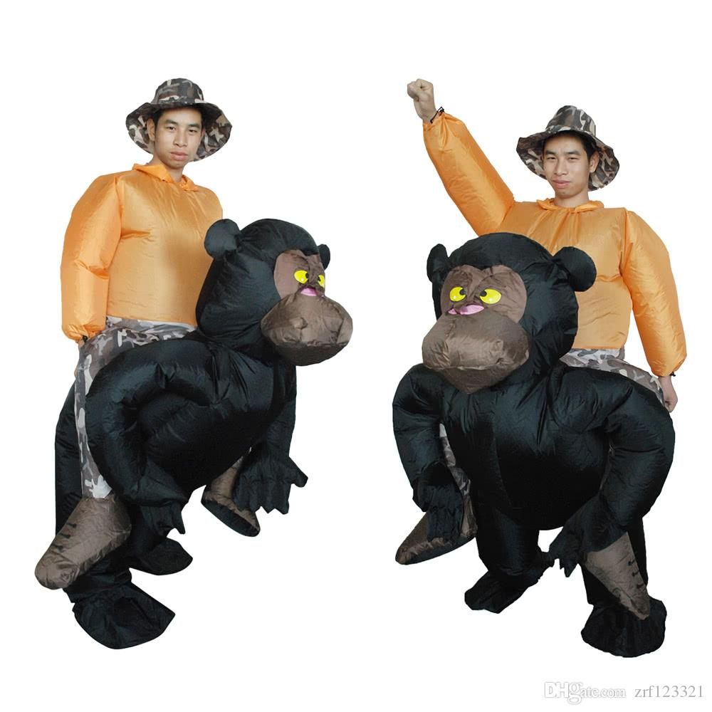Cute Adult Inflatable Chimpanzee Costume Suit Blow Up Fancy Dress Festival Party Inflatable Black Orangutan Outfit Jumpsuit Lovely In Party Supply ...  sc 1 st  DHgate.com & Cute Adult Inflatable Chimpanzee Costume Suit Blow Up Fancy Dress ...