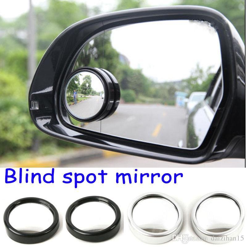 2pcs Car Vehicle Blind Spot Dead Zone Mirror Rear View Small Round Auto Side