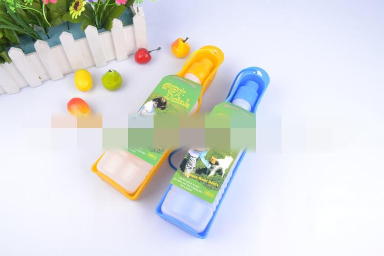 500ml Blue/Red/Pink Dog Drinking Bottles Potable Pet Dog Cat Water Feeding Drink Bottle Dispenser Pet Product TT98