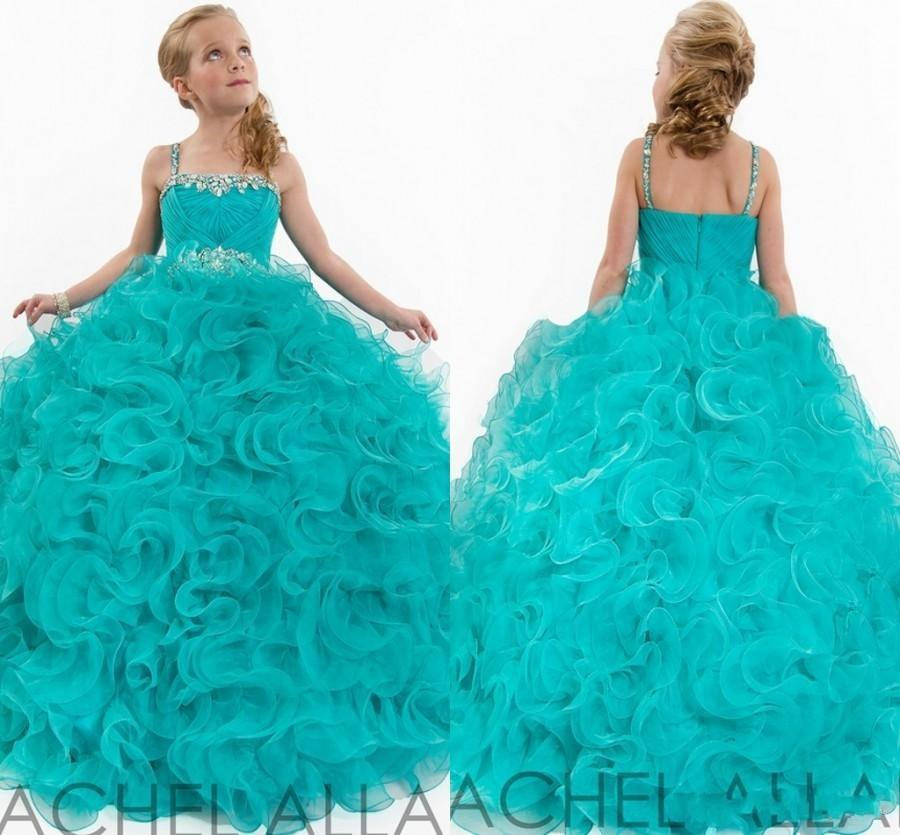 Amazing Girl Pageant Dresses For Kids Formal Dresses With Beads ...