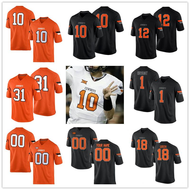 dbbb18782f5 2019 Mens Womens Kids Oklahoma State Cowboys College 10 Tyrell Alexander 31  Tre Flowers 12 Ryan Sherry 12 Kirk Tucker White Orange Black Jerseys From  ...