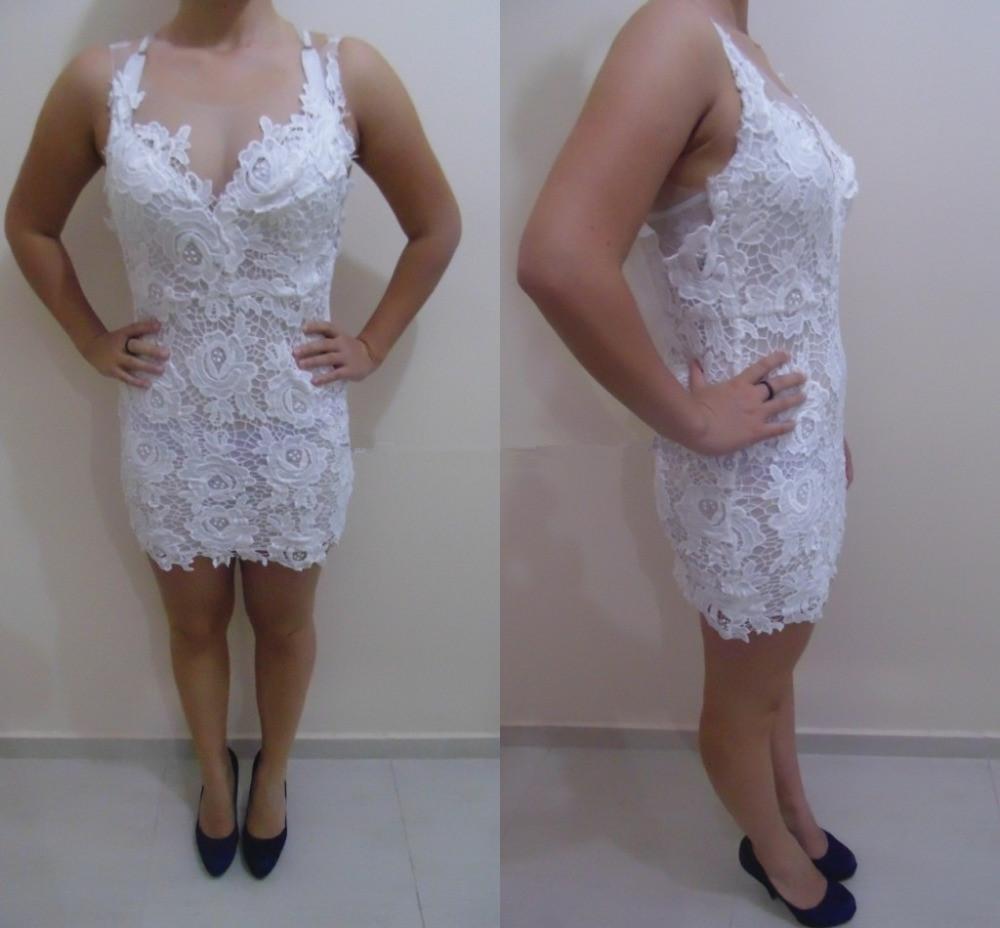2019 кружевные платья для короткого вечеринка платья драгоценного шеи без рукавов над коленей длиной на коленей