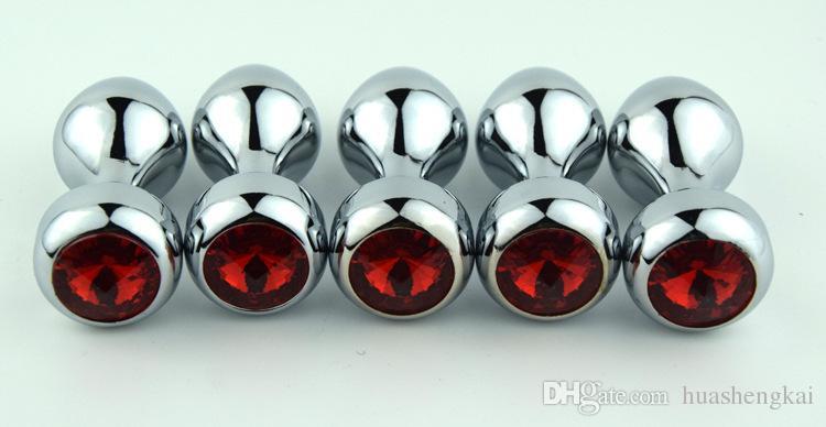 新しい金属アナルプラグバットプラグアナルおもちゃクリスタルジュエル30mm * 72mm 50g男性のためのセックスグッズ