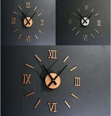 Decorative Clocks For Walls 3d mirror acrylic decorative clock creative diy acrylic wall clock