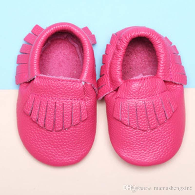 Baby First Walkers Shoes Mocasines de cuero genuino Soft Sole Spring Autumn Toddler Children Lovey shoes