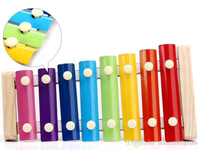 جديد الرضع وحاتي لغز ألعاب الذكاء الطفل الموسيقى لعب اليد الخشبية يطرق اوكتاف تدق البيانو للبيع