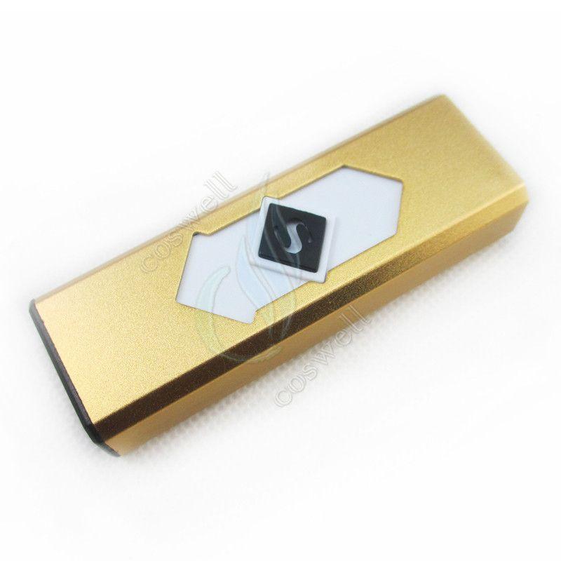 encendedor del usb del alumbrador del USB de la manera alumbrador electrónico eléctrico más ligero de los cigarrillos encendedor sin granja winproof