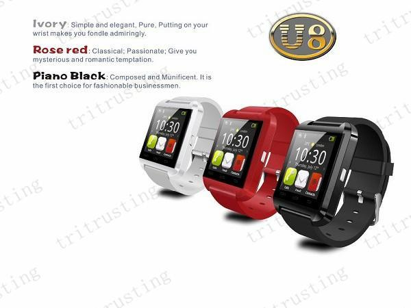 U8 Smart Bluetooth Watches X50 With Altimeter WristWatch U8 U Watch for iPhone Samsung S4/S5/Note 2/Note 3 HTC Android Phone Smartphones