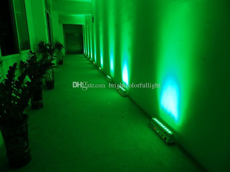 American DJ lighting/one sample 9*18w RGBWA+UV 6 IN 1 Led battery wireless dmx led wall washer/led bar uplights
