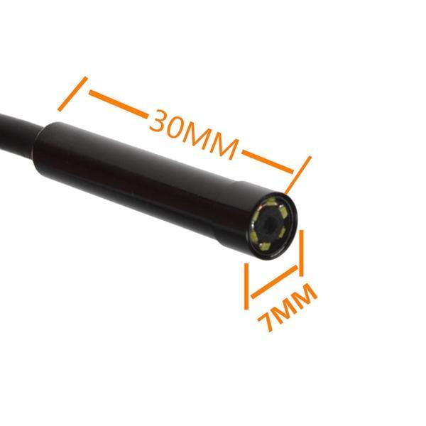 5,5mm 6 LEDs Micro USB Android-Endoskop-Kamera 7mm wasserdicht HD 720p 1.3MP Inspektionskamera Schlangenröhre für Android-PC