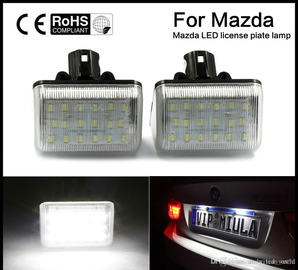 Car Smd3528 Led Number Led License Plate Light 12v White Plate Lamp ...