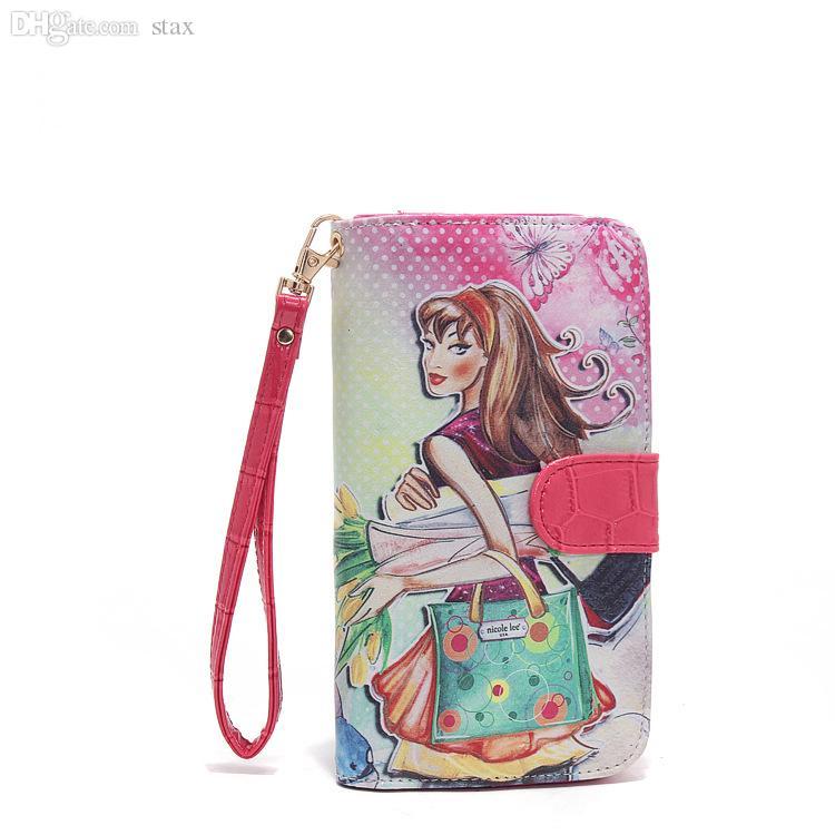 5103e43d7 Compre Venta Al Por Mayor Estados Unidos Nicole Lee Ladies Designer Wallet  Mujeres Cartera Y Monederos Clutch Bolsas Femeninas Marca Wallet 2015 Denim  ...