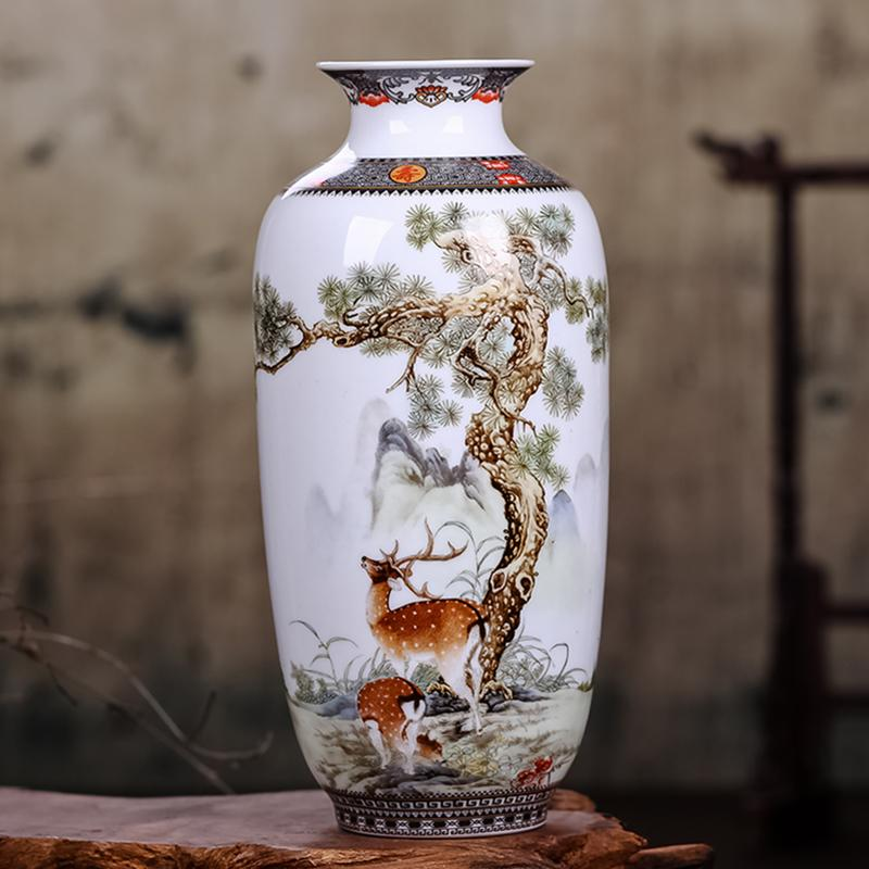 Jingdezhen Ceramic Vase Vintage Chinese Style Animal Vase Fine